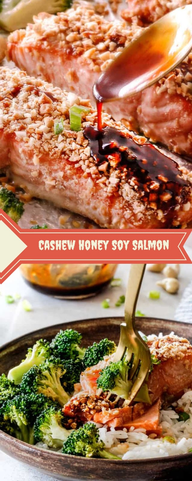 Cashew Honey Soy Salmon
