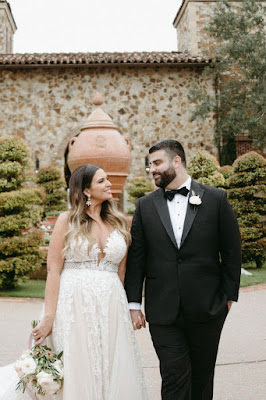 bride and groom at bella collina