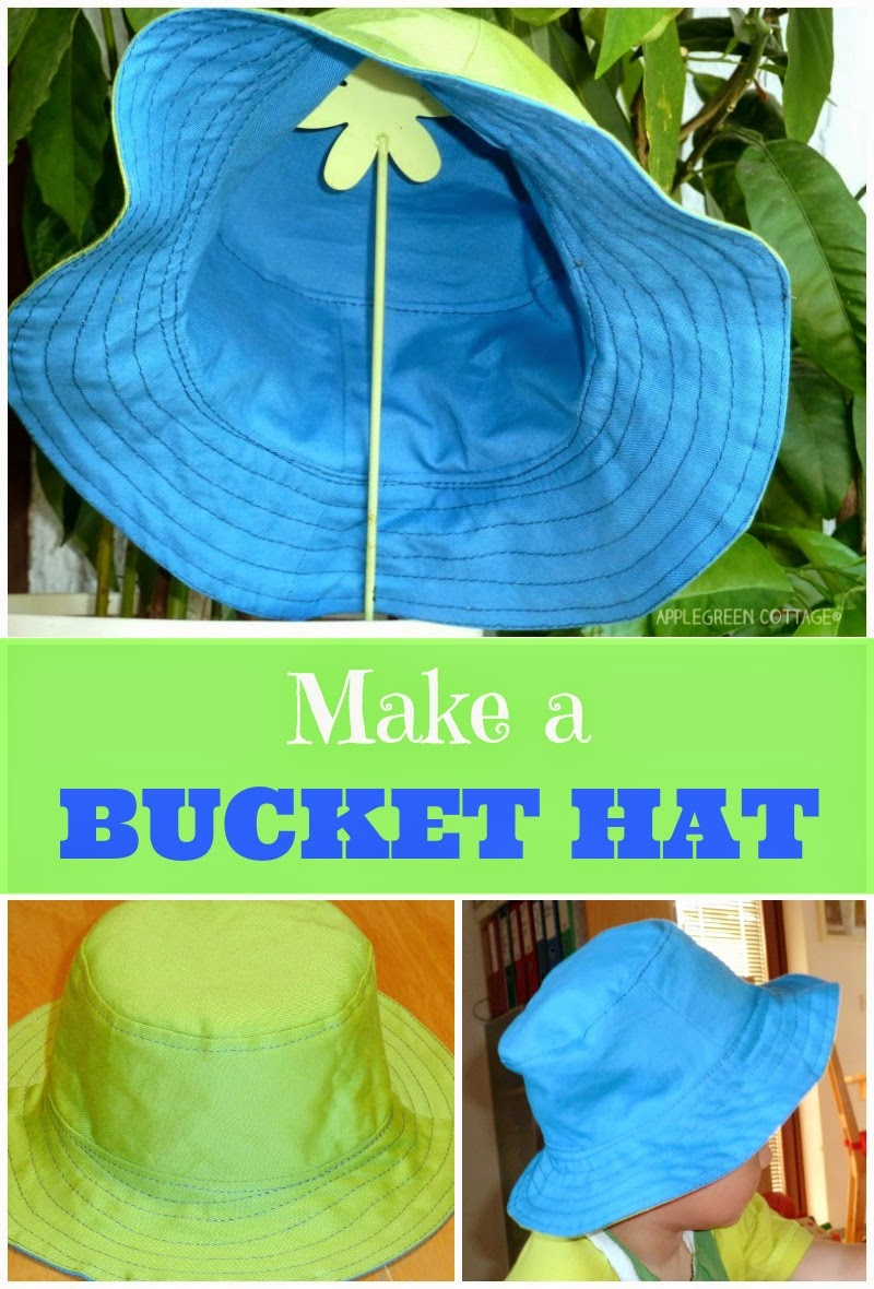 a toddler hat tutorial. How to make a bucket hat for kids