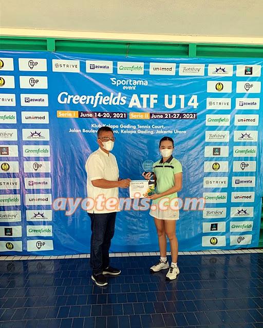 Menangi All Bandung Final, Joanne Lynn Hartono Juara Greenfields ATF 14U by SPORTAMA seri 1