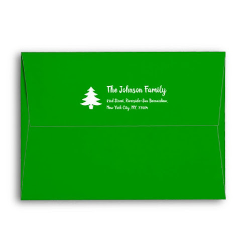 Simple Green White Christmas Party Holiday Mailing Envelope