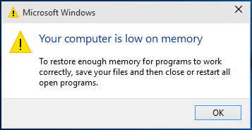 Virtual Memory too low