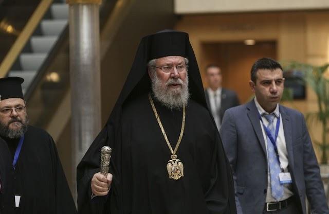"""Αρχιεπίσκοπος Χρυσόστομος: """"Η Εκκλησία δεν φοβάται κανέναν, ας έρθει όλη η Αστυνομία εδώ"""""""