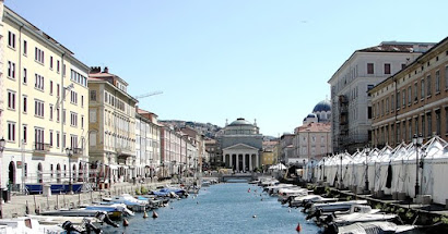 Canal Grande in Trieste has many waterside bars and restaurants that are popular with visitors