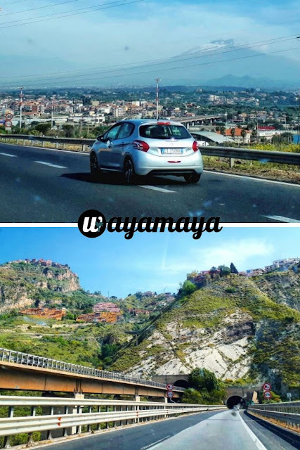 Mount Etna view from the highway and Sicily road tunnels | Sicily, Italy | wayamaya