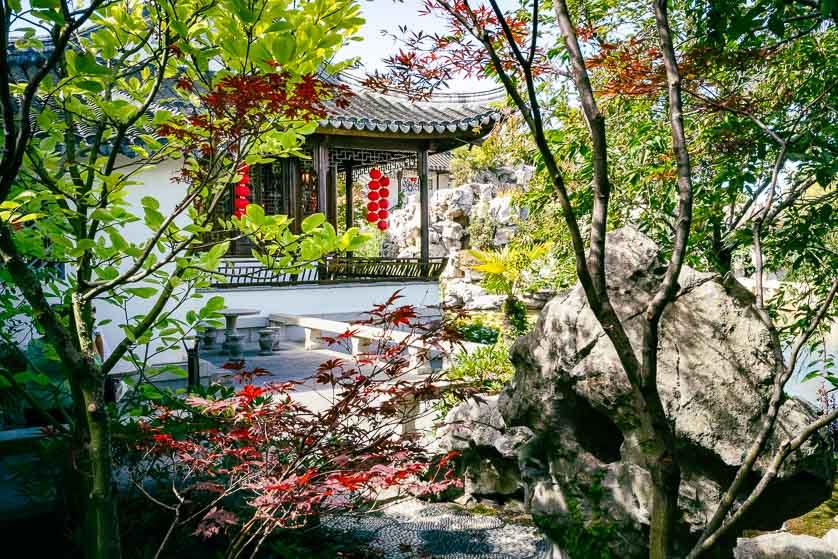 Picturesque Lan Yuan Dunedin Chinese Garden, Dunedin, New Zealand.