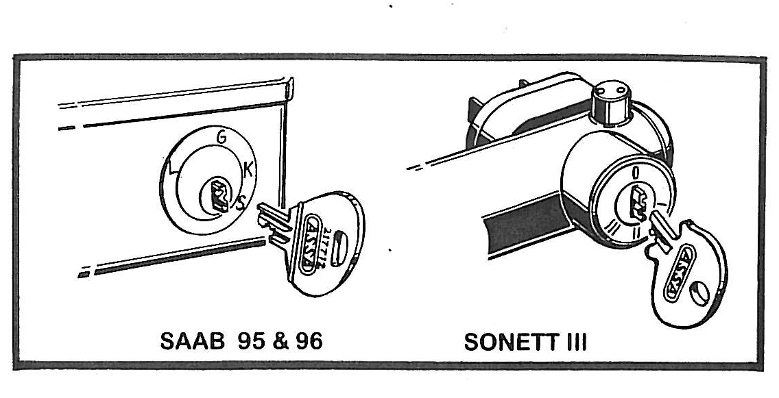 SAAB JOURNAL: SAAB Sonett III New Ignition Switch System