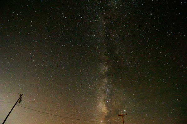 Milky Way from Leasburg State Park, DSLR,12mm, 60 seconds (Source: Palmia Observatory)