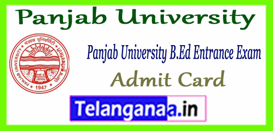 Panjab University B.Ed Admit Card 2018 Result Seat Allotment