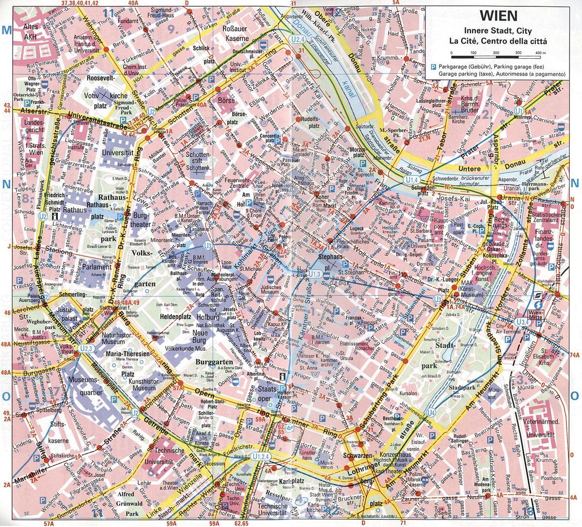 bécs térkép Online térképek: Bécs térkép bécs térkép