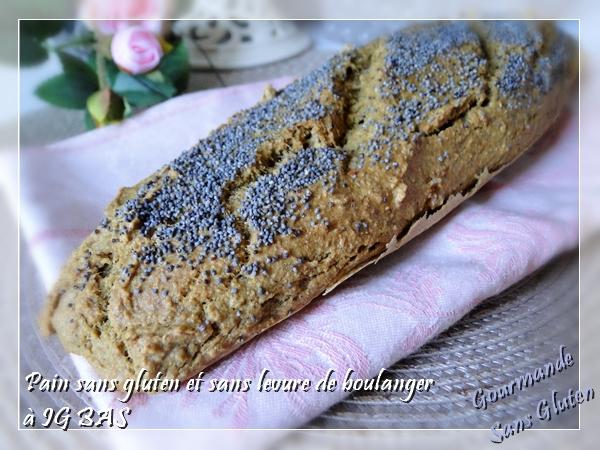 Pain sans gluten, sans levure de boulanger à IG BAS