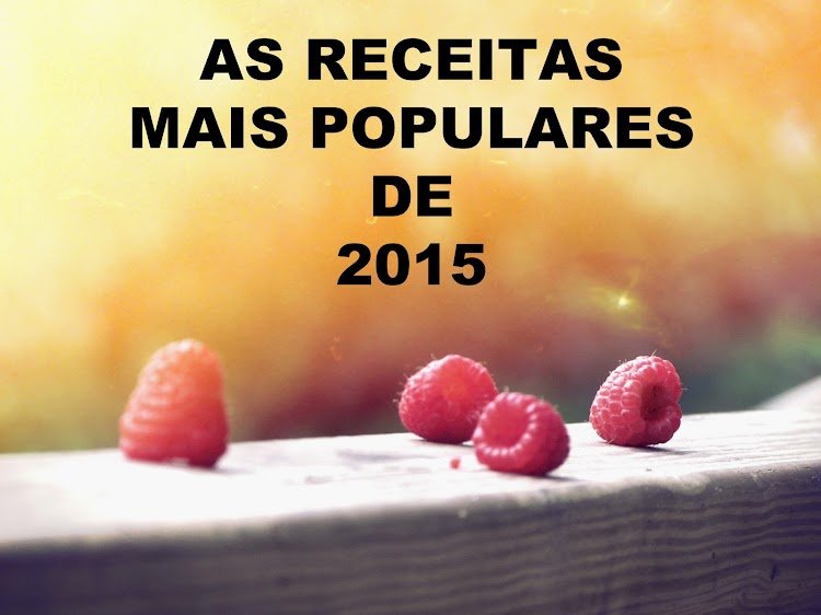 As Receitas Mais Populares de 2015