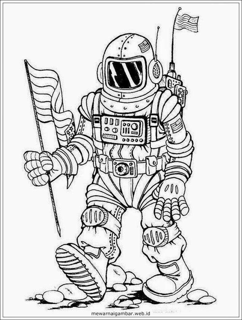 Kumpulan Gambar Astronot Versi Kartun Seribu Animasi