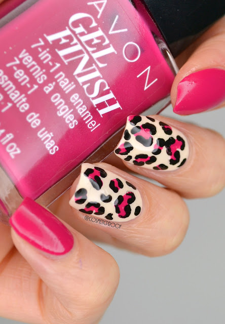 Leopard-print-Nail Art
