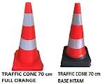 Distributor Traffic Cone Kerucut 75 Cm Karet PVC Dasar Hitam