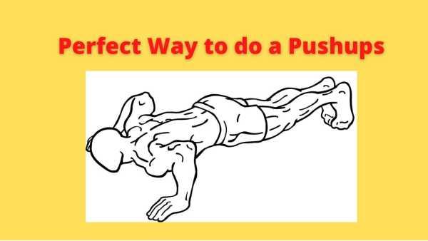 How to do back push up exercise correctly