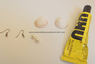 Aretes con conchas cositasconmesh - Como hacer conchas finas ...