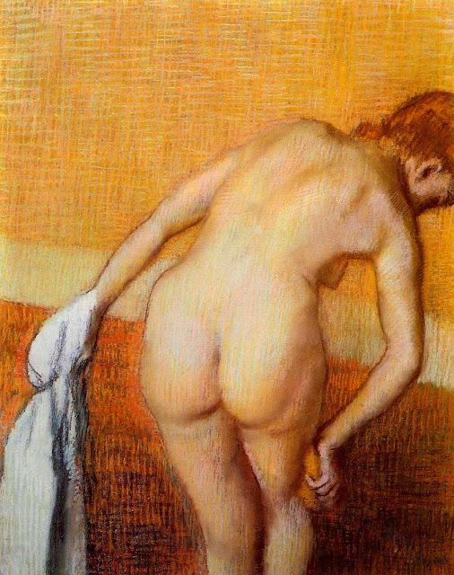 Эдгар Дега - Женщина у ванны (1886-1888)