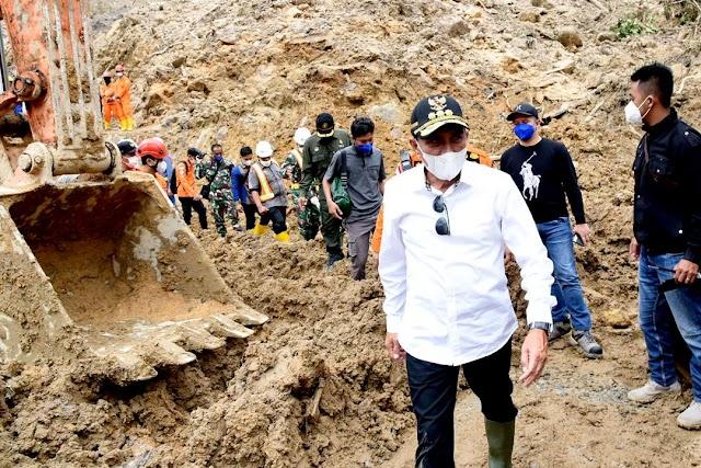 Gubernur Minta Evakuasi Korban Longsor PLTA Batangtoru Dilakukan Secara Optimal