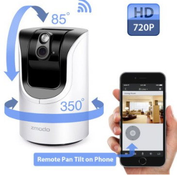 Zmodo 1 0 Megapixel 1280 X 720 Pan Amp Tilt Smart Wireless