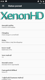 Custom Rom Xenon HD based Android N for Redmi Note 3 Pro