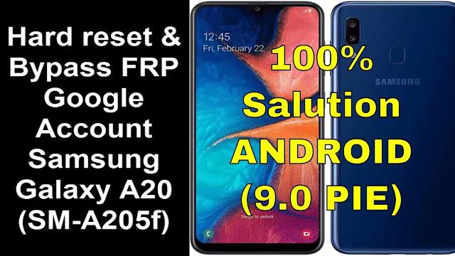 Bypass FRP cho Samsung Galaxy A20 (SM-A205)