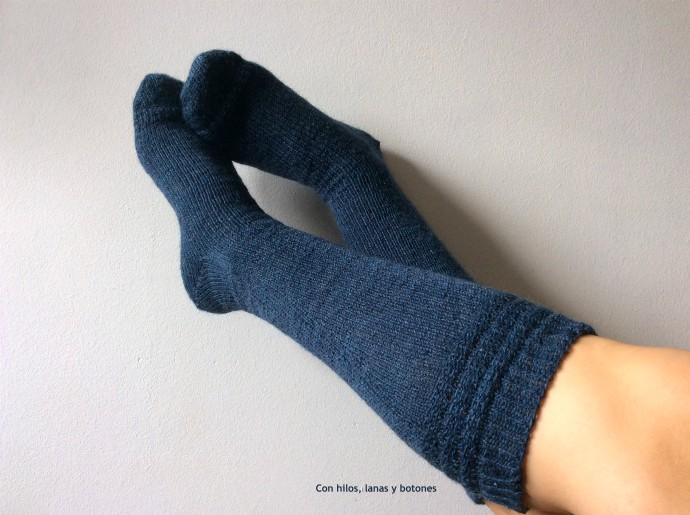 Con hilos, lanas y botones: Moffitt Socks (patrón de Soraya García, @soriknits)