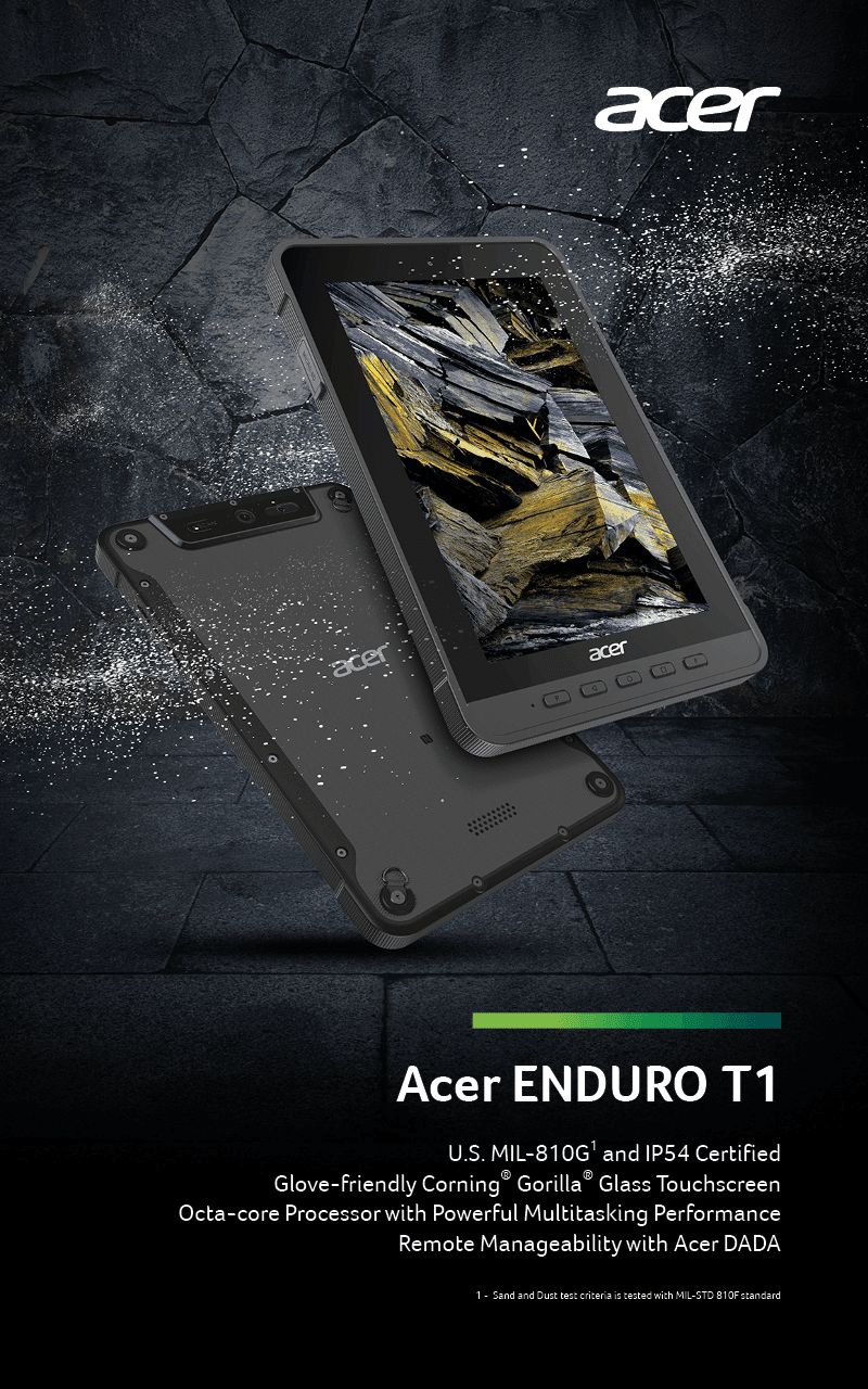 Acer Enduro T1 Android tablet