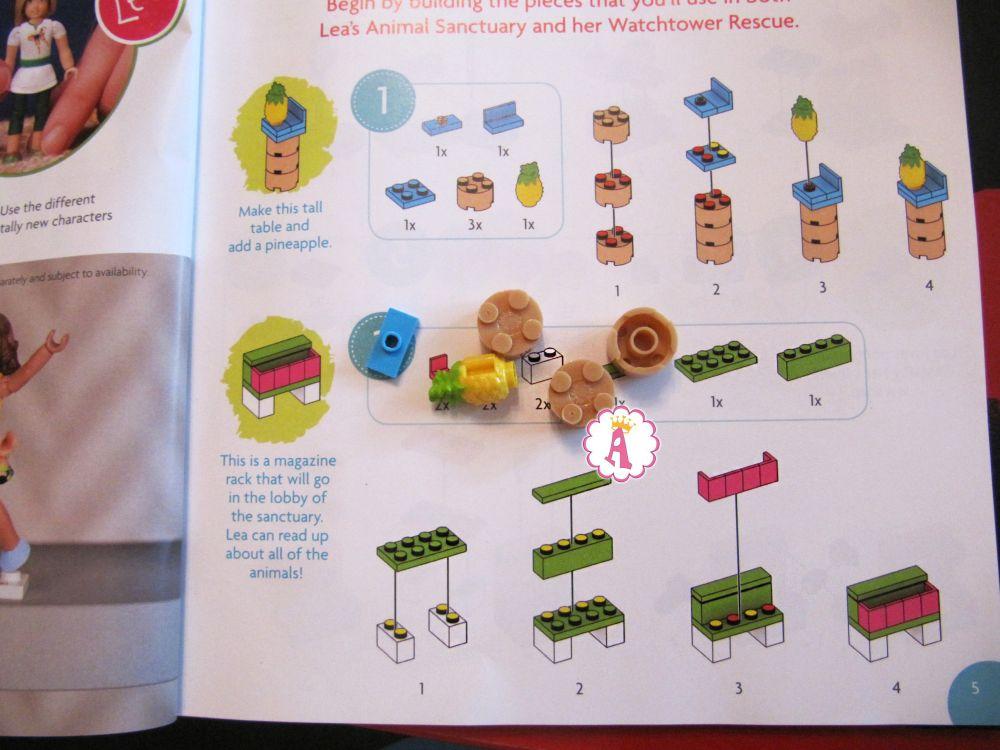 Инструкция буклет со сборкой конструктора Mega Construx American Girl