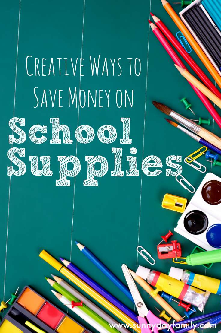 Creative ways to save on kids school supplies! Easy ideas to save on back to school shopping.