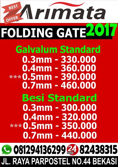gambar daftar harga folding gate pondok gede