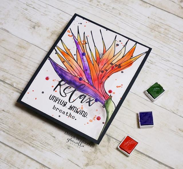 Dana Warren - Kraft Paper Stamps - Graciellie Designs - Altenew Watercolor