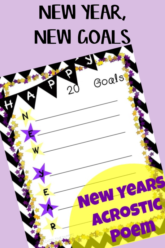 new years acrostic poem printable