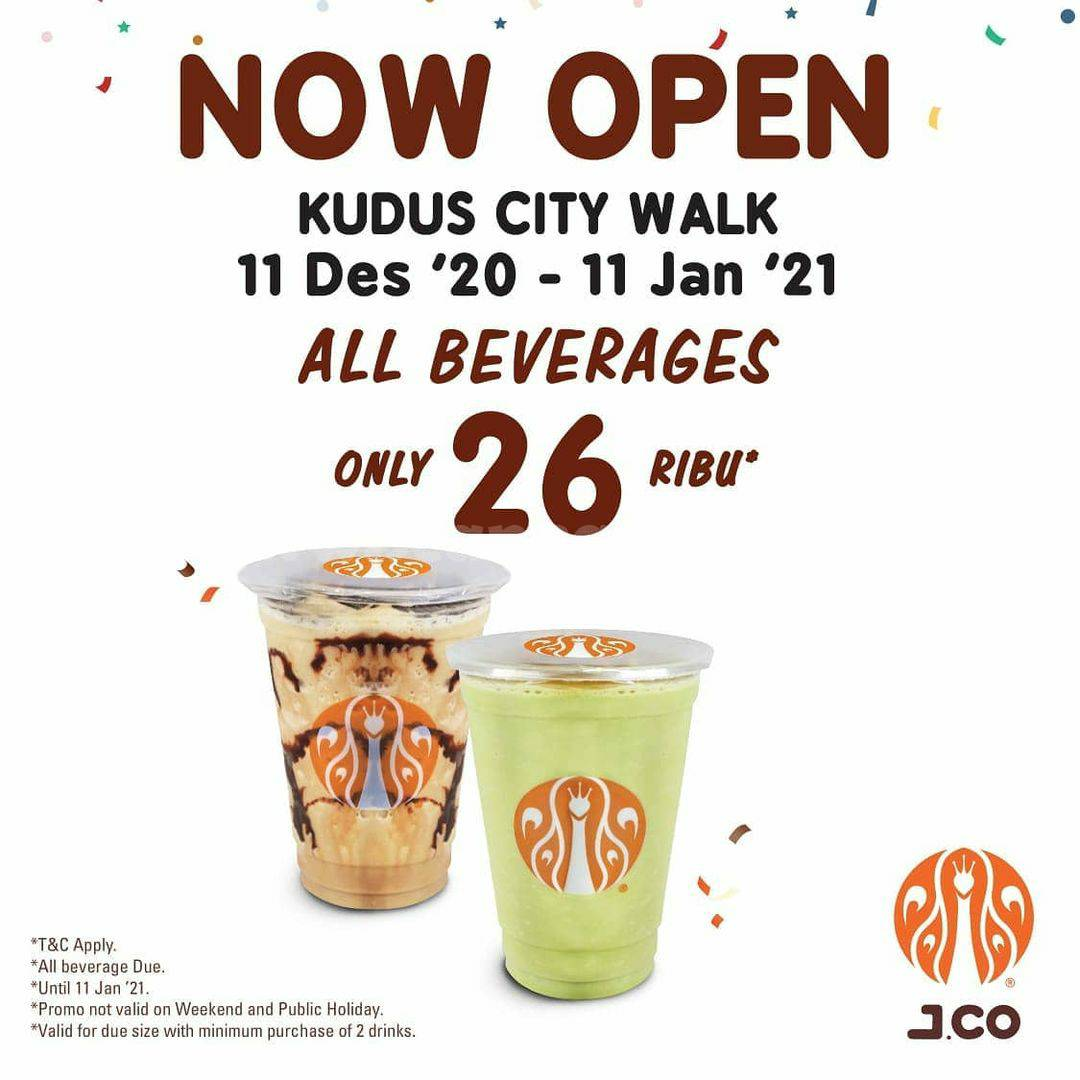 JCO Kudus City Walk Grand Opening Promo – All Beverages only Rp 26.000