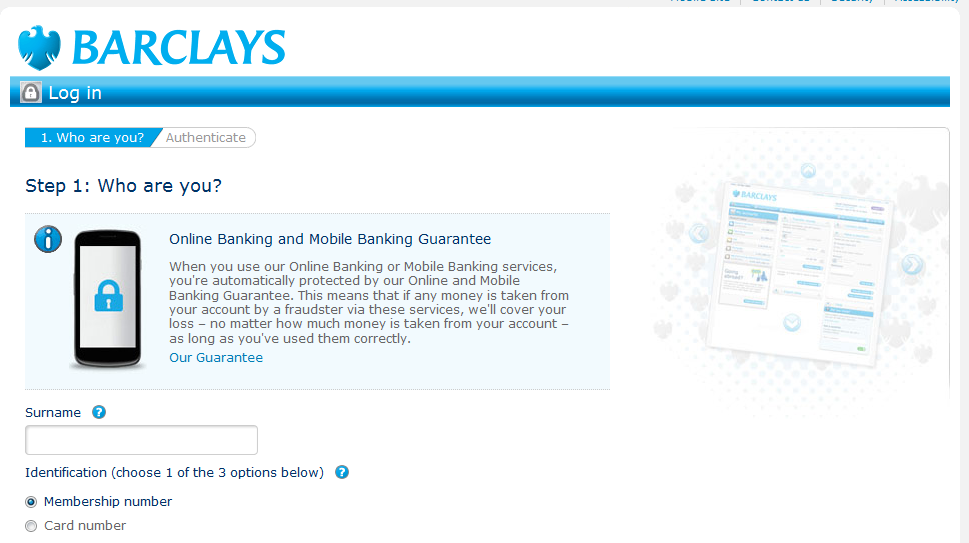 barclays online banking