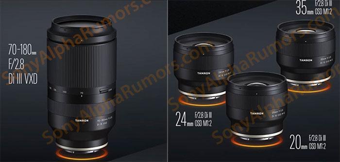 Объективы Tamron для камер с байонетом Sony E
