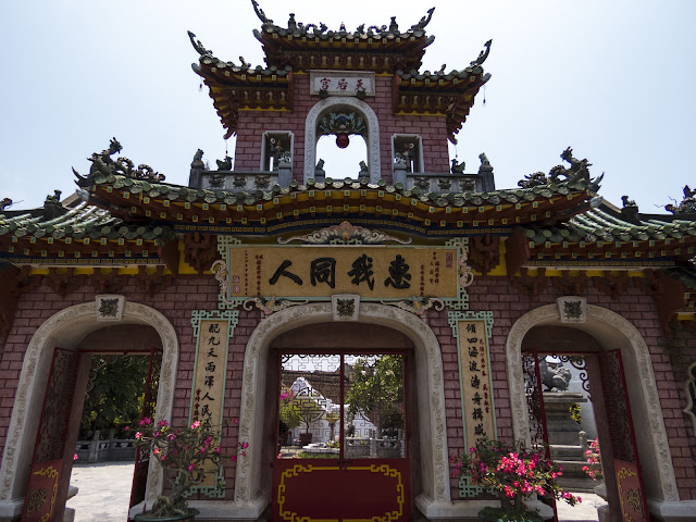 Temple gate in Hoi An Vietnam