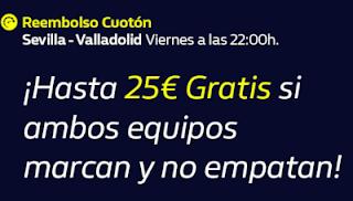 william hill Reembolso Cuotón Sevilla vs Valladolid 26-6-2020