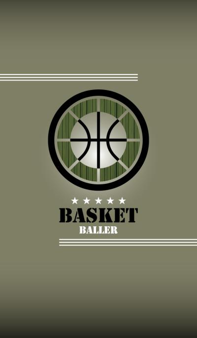 BASKET BALLER -mossgreen-