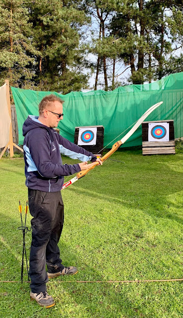 Jon Hunt from University of Worcester at archery range