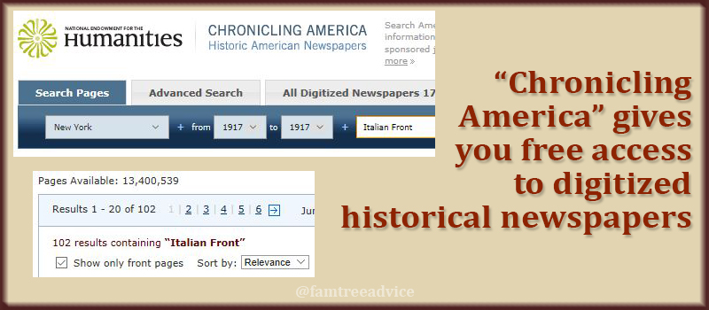 Get started searching American newspapers from the Library of Congress.