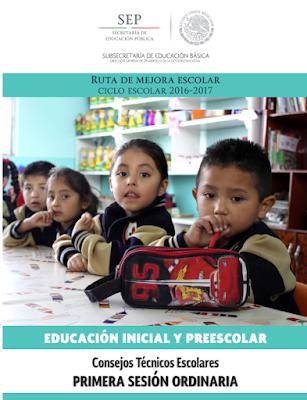 Consejo Técnico Escolar  Primera Sesión Ordinaria Preescolar 2016-2017