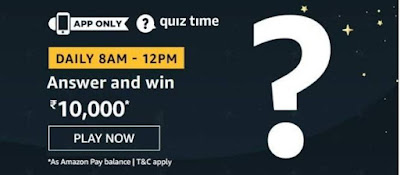 Today, 7th May Amazon Quiz Answers - Win ₹10,000