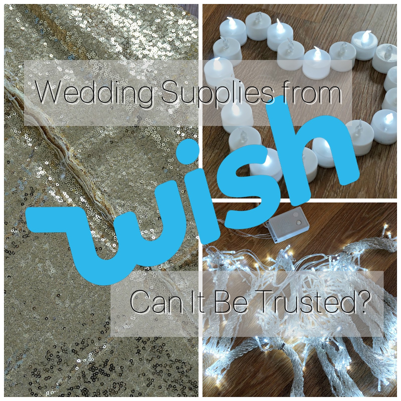 Wedding supplies from wish can it be trusted jenna suth buying wedding supplies can be a pricey business theres lots of different options and sometimes you have to weigh up whether youre better off renting or solutioingenieria Choice Image