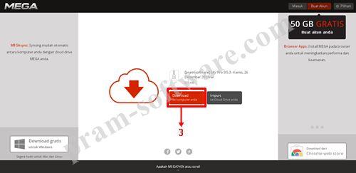 Tombol Download do Mega.co.nz