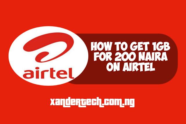 Airtel 1GB For 200 Data Plan Code