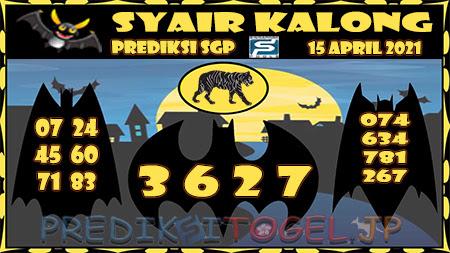 Prediksi Kalong SGP Kamis 15-Apr-2021