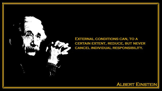 External conditions can, to a certain extent, reduce, but Albert Einstein inspiring quotes