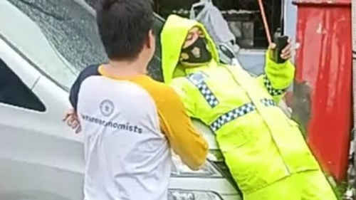 Tak Terima Ditegur, Anggota DPRD Tabrak Polisi: Mereka Tidak Profesional