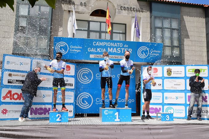 Daniel García, Diego Álvarez, Carlos Rodríguez y Manuel Prieto consiguieron los títulos en el Campeonato de Galicia en la categoría máster